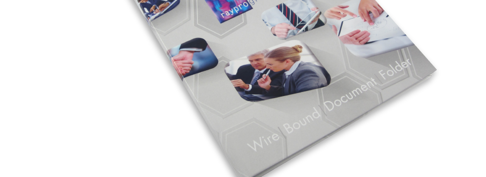 Wire Bound hard back folders